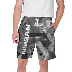 Шорты на шнурке мужские NISSAN цвета 3D — фото 1