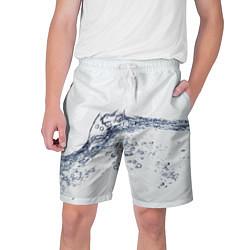 Шорты на шнурке мужские Белая вода цвета 3D-принт — фото 1