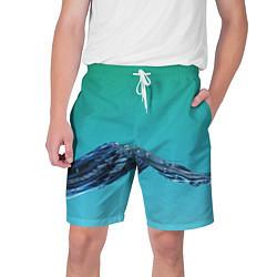 Шорты на шнурке мужские Зеленая вода цвета 3D — фото 1