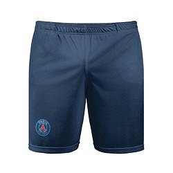 Шорты спортивные мужские PSG FC: Blue цвета 3D — фото 1