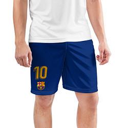Шорты спортивные мужские FCB: Lionel Messi 2018 цвета 3D — фото 2