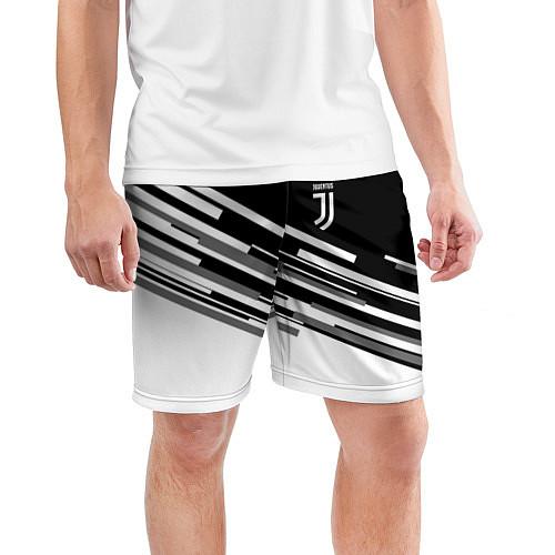 Мужские спортивные шорты FC Juventus: B&W Line / 3D – фото 3