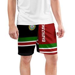 Шорты спортивные мужские Chechnya, Russia цвета 3D-принт — фото 2
