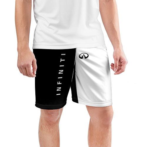Мужские спортивные шорты Infiniti: Black & White / 3D – фото 3