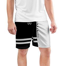Шорты спортивные мужские Infiniti: B&W Lines цвета 3D — фото 2