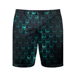 Шорты спортивные мужские TES: Blue Pattern цвета 3D — фото 1