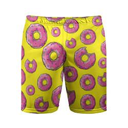 Шорты спортивные мужские Пончики Гомера цвета 3D-принт — фото 1