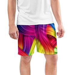 Шорты спортивные мужские Абстракция цвета цвета 3D — фото 2