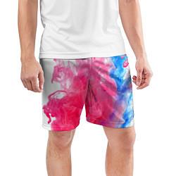 Шорты спортивные мужские Взрыв красок цвета 3D — фото 2