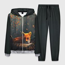 Костюм мужской Лисица в лесу цвета 3D-меланж — фото 1