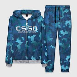 Костюм мужской Cs:go - Cobalt Disruption Ржавый кобальт цвета 3D-меланж — фото 1