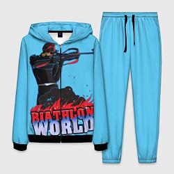Костюм мужской Biathlon world цвета 3D-черный — фото 1