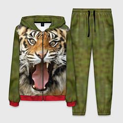 Костюм мужской Удивленный тигр цвета 3D-красный — фото 1