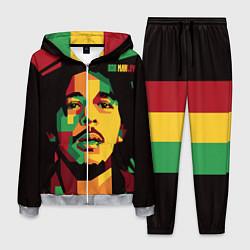 Костюм мужской Боб Марли цвета 3D-меланж — фото 1
