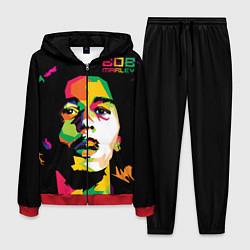 Костюм мужской Боб Марли: фан-арт цвета 3D-красный — фото 1