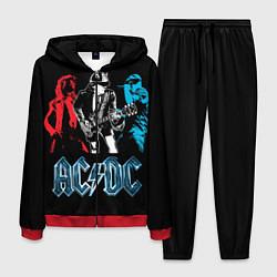 Костюм мужской AC/DC: Ice & Fire цвета 3D-красный — фото 1