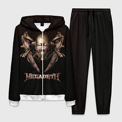 Костюм мужской Megadeth цвета 3D-белый — фото 1
