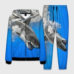 Костюм мужской Акула под водой цвета 3D-черный — фото 1