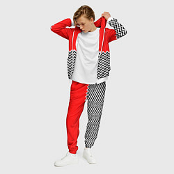 Костюм мужской Твин Пикс: узор цвета 3D-белый — фото 2