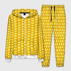 Костюм мужской Сладкая вареная кукуруза цвета 3D-белый — фото 1