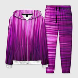 Костюм мужской Фиолетово-черные краски цвета 3D-белый — фото 1