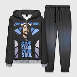 Костюм мужской Give Grohl Your Soul цвета 3D-меланж — фото 1