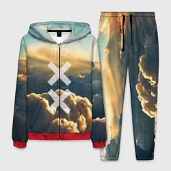 Костюм мужской The XX: Clouds цвета 3D-красный — фото 1