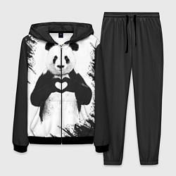 Костюм мужской Panda Love цвета 3D-черный — фото 1