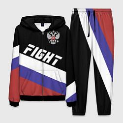Костюм мужской Fight Russia цвета 3D-черный — фото 1