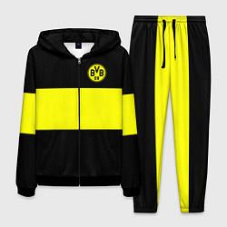 Костюм мужской Borussia 2018 Black and Yellow цвета 3D-черный — фото 1
