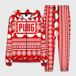 Костюм мужской PUBG: New Year цвета 3D-красный — фото 1