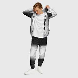 Костюм мужской FC Juventus: Silver Original цвета 3D-меланж — фото 2