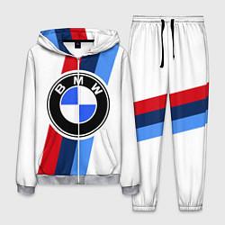 Костюм мужской BMW M: White Sport цвета 3D-меланж — фото 1
