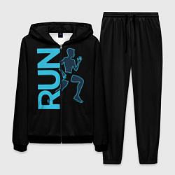 Костюм мужской RUN: Black Style цвета 3D-черный — фото 1