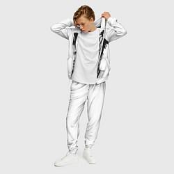 Костюм мужской XXXTentacion: Pixel Art цвета 3D-белый — фото 2