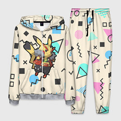 Костюм мужской Pikachu Geometry цвета 3D-меланж — фото 1