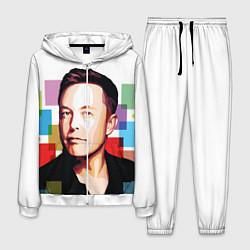 Костюм мужской Илон Маск цвета 3D-белый — фото 1