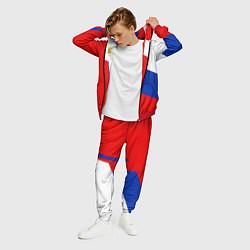 Костюм мужской Russia: Geometry Tricolor цвета 3D-красный — фото 2