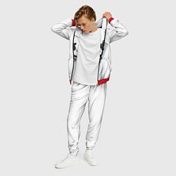 Костюм мужской Marshmallow: White Only цвета 3D-красный — фото 2