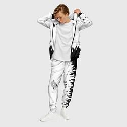 Костюм мужской WHITE UCHIHA MADARA цвета 3D-черный — фото 2