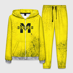 Костюм мужской Metro Exodus: Yellow Grunge цвета 3D-меланж — фото 1