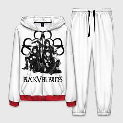 Костюм мужской Black Veil Brides: Knives and Pens цвета 3D-красный — фото 1