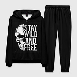 Костюм мужской Stay wild and free цвета 3D-черный — фото 1
