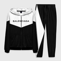 Костюм мужской Balenciaga: White & Black цвета 3D-черный — фото 1