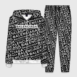 Костюм мужской Balenciaga: Black Pattern цвета 3D-белый — фото 1