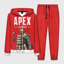 Костюм мужской Apex Legends: Red Caustic цвета 3D-белый — фото 1