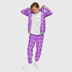 Костюм мужской Twitch: Violet Pattern цвета 3D-меланж — фото 2