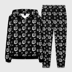 Костюм мужской Twitch: Black Pattern цвета 3D-черный — фото 1