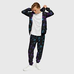 Костюм мужской Twitch: Neon Style цвета 3D-черный — фото 2
