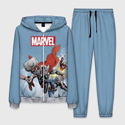 Костюм мужской Marvel Comics цвета 3D-меланж — фото 1